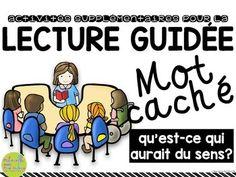 Activités supplémentaires pour la lecture guidée - MOT CACHÉ