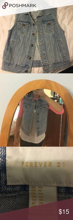 Jean jacket vest Jean jacket vest never worn Forever 21 Jackets & Coats Jean Jackets