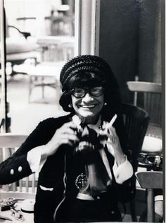 Coco Chanel with Camera, photographed by Hatami | My lovely lady!