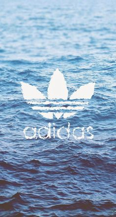 Download Adidas Logo Over Water iPhone 6 Plus HD Wallpaper