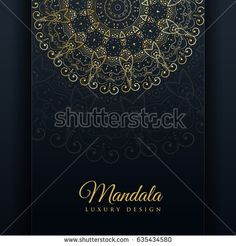 Luxury Ornamental Mandala Design Background In Gold Color Papier Peint Bureau Couleur Dor Vecteur