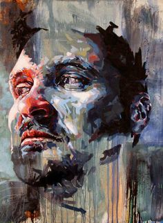 Painting portrait Done Dirt Cheap by Joshua Miels on DesArts Abstract Faces, Abstract Portrait, Portrait Art, Portrait Paintings, Artistic Portrait, Art Paintings, Figure Painting, Painting & Drawing, A Level Art