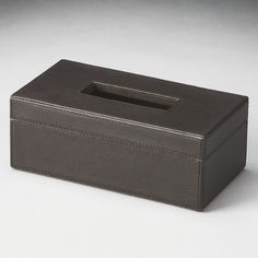 Butler Hors D'oeuvres Lido Leather Tissue Box