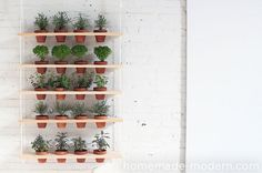 It's almost time to start planting things, and I adore this vertical planter that you can #DIY! Would be perfect for my herb garden. /ES