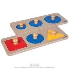 044200 - Série d'encastrements à plusieurs formes - Montessori spirit