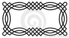 Celtic Knot Border by Jmktok, via Dreamstime Celtic Symbols, Celtic Art, Hand Quilting, Machine Quilting, Celtic Border, Celtic Quilt, Celtic Designs, Hand Embroidery Designs, Colorful Drawings