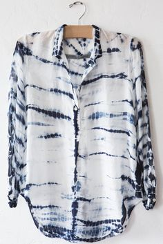 raquel allegra - tie dye print blouse