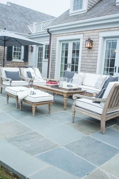 Back Patio with Teak Furniture HGTV Dream Home