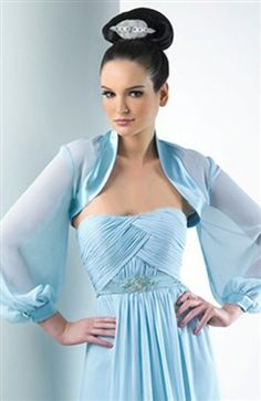 Long sleeves Chiffon Fabric #Bolero & #Shawls  Style Code: 06677 $34