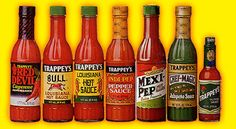Spice up any meal with Trappey's pepper sauces and pickled peppers. A spicy life is a happy life -- trappeys.com #trappeys #hotsauce #peppers