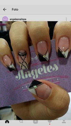 Not the ring finger Get Nails, Love Nails, Pretty Nails, Metallic Nails, Acrylic Nails, French Tip Nails, Nagel Gel, Simple Nails, Nail Tips
