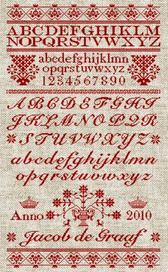 Scandinavian style embroidery sampler