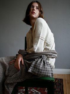 8ef8c1a3c4 Mujo by Elizabeth Leslie - Drawstring Bag - Grey and Brown Checks. Each bag  is