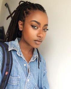 Natural looking black hair dreadlocks Black Is Beautiful, Simply Beautiful, Skin Girl, Curly Hair Styles, Natural Hair Styles, Black Girls Hairstyles, American Hairstyles, Brown Skin, Dark Skin