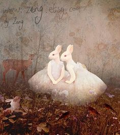 Crooks and Nannies Art And Illustration, Illustrations, Bunny Art, Bunny Book, White Rabbits, Rabbit Art, Pet Birds, Alice In Wonderland, Amazing Art