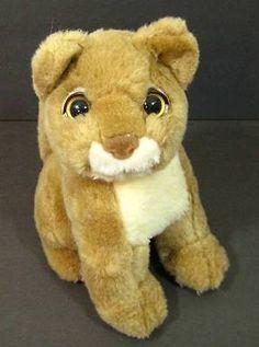 "9"" Cute LION CUB Tan White Plush Vintage Soft Stuffed Animal TB Trading"