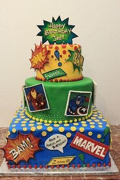 Marvel Cake-now we are talking - For all your cake decorating supplies, please visit craftcompany.co.uk