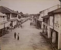 Straat in Medan, Sumatra, Indonesië (1883-1918)
