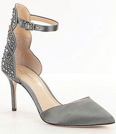 e7da35b18c2 Imagine Vince Camuto RhinestoneEmbellished Satin Mona Pumps  Dillards
