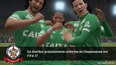 Uniforme está disponível junto a uma mensagem em suporte à equipe.  #FIFA17 #Chape #Chapecoense