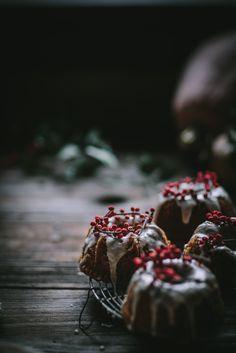 Gorgeous Pumpkin Mascarpone Mini Bundt Cakes With Creme Fraiche Glaze by Eva Kosmas Flores