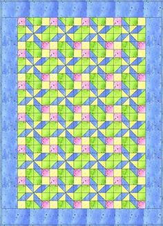 pretty in pastels baby quilt  free pattern