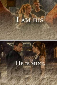 """""""I am his and he is mine.""""- Tris loves Tobias, and Tobias loves Tris. End of Story. No Edgar to ruin everything in Insurgent, no love triangles because """"Divergent is the only YA movie that doesn't have a love triangle."""" That is what makes the divergent trilogy better, it doesn't have a love triangle. All it is is Tris and Tobias, and it should stay that way. If the add Edgar to the series, I won't watch Insurgent or Allegiant.#awaywithedgar"""