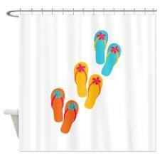 Trio Of Flip Flops Shower Curtain  Flip Flop Shower Curtain