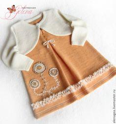 """Одежда для девочек, ручной работы. Ярмарка Мастеров - ручная работа Комплект для девочки """"Малышка"""" (сарафан+болеро). Handmade."""