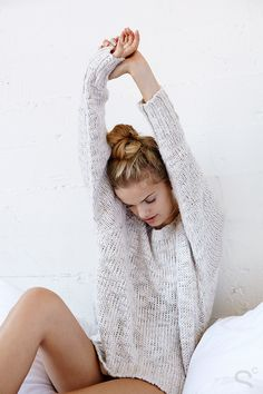 Cozy, Sexy, and Totally Chic: A Winter Loungewear Editorial - BDG Cuddle Up Sweater | StyleCaster