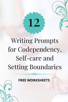 These writing exercises show how to prioritize self-care and understand what you need in order to set healthy boundaries. Codependent relationships can't heal when we don't know what we need. Sign up with your name and email to get your codependency recovery started! It's so worth it! #codependency #boundaries #self #relationships #mentalhealth Therapy Worksheets, Writing Worksheets, Free Worksheets, Codependency Recovery, Journal Writing Prompts, Journal Ideas, Therapy Journal, Writing Exercises, Relationship Advice