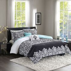 Intelligent Design Hazel Comforter Set, Black