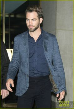 Chris Pine is up and about bright and early to make an appearance on the Today show on Thursday (May 9, 2013) in New York City.