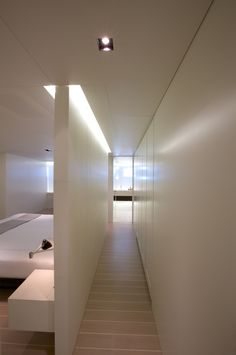 Pure lines and space, interior view of the Baracuda yacht by John Pawson _