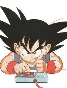 Goku by Akira Toriyama Dragon Ball Gt, Manga Anime, Anime Art, Manga Dragon, Kid Goku, Ball Drawing, Bandai Namco Entertainment, Otaku, Fan Art