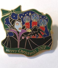 Disney Japan Maleficent & Diablo Merry Christmas 2007 History of Art LE 400 Pin