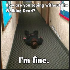 Without The Walking Dead. At least I don't look out for Zombies everywhere  I go... actually, I take that back.