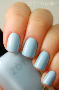 """ZOYA Nail Polish """"Blu"""" {An opaque and delicate pale Baby Blue w/ a glossy creme finish}"""