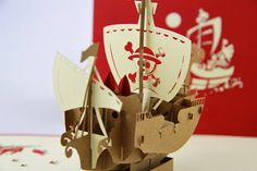 Thousand Sunny Ship 3D Pop-Up Card - style3dcard Pop Up, Transportation, Place Cards, Place Card Holders, 3d, Christmas Ornaments, Holiday Decor, Home Decor, Decoration Home