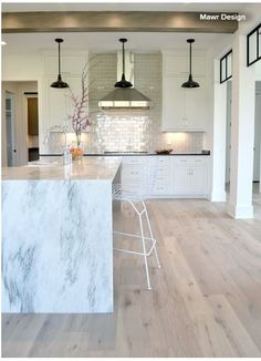 Modern Kitchen Interior Remodeling Full Service Architecture Interior Design firm that services much of Central Indiana: Projects Paint For Kitchen Walls, Wood Floor Kitchen, Kitchen Flooring, Kitchen Ceilings, Kitchen Interior, Kitchen Design, White Wood Kitchens, Hickory Flooring, Wood Tile Floors