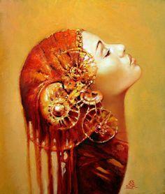 Merab Gagiladze  | artista esplora e presenta delle donne le loro condizioni spirituali ...