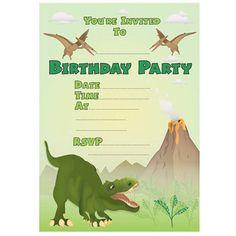 Free Printable Invite Dinosaur Party