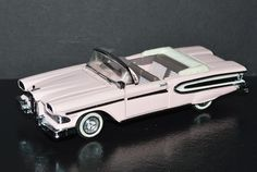 Franklin Mint 1/43 scale Car 1958 Edsel Citation Convertible Pink