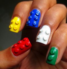 Lego nails. So cool!