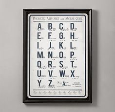 Morse Code Alphabet Art | Art | Restoration Hardware Baby & Child