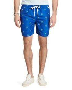 POLO RALPH LAUREN Traveler Turtle Swim Trunks. #poloralphlauren #cloth #trunks