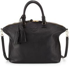 Tory Burch Thea Medium Slouchy Leather Satchel Bag, Black - $495.00