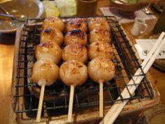 skewered rice dumplings in a sweet soy glaze みたらし団子(名古屋)