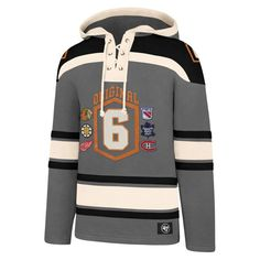 Original Six Men's 47 Brand Gray Pullover Jersey Hoodie - Detroit Game Gear Original Six, Detroit Game, Nhl Jerseys, Detroit Red Wings, Grey Hoodie, Motorcycle Jacket, Pullover, Hoodies, Hoodie
