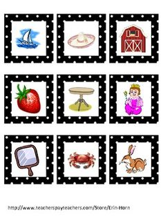 Spanish Rhyming Cards (FREE on TPT)